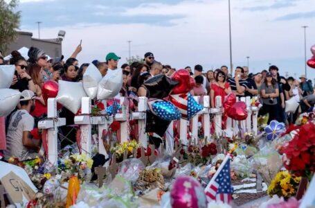 Hundreds mourned the El Paso Walmart shooting victims and their families last year. A new district attorney must weigh whether to prosecute the suspected shooter, whom federal officials also plan to take to trial. Photo credit: Nick Oza/USA Today Network via REUTERS